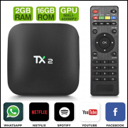 Smart Tv TX2 Android 7.1 Quad Core 2gb Ram 16gb 4k Ultra Hd + Mini Teclado Wireless LED