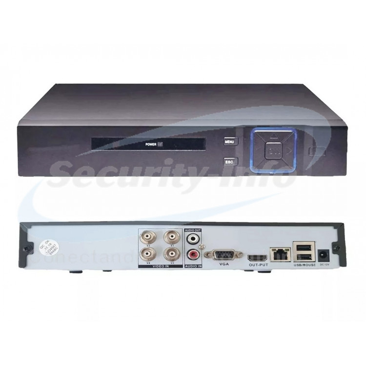 DVR 4 CANAIS 5 IN 1 HÍBRIDO FULL HD