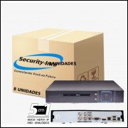 8 DVR 4 CANAIS 5 IN 1 HÍBRIDO FULL HD