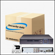 10 DVR 4 CANAIS 5 IN 1 HÍBRIDO FULL HD