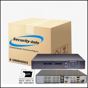 8 DVR 8 CANAIS 5 IN 1 HÍBRIDO FULL HD