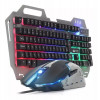 Kit Teclado Iluminado Chroma + Mouse Gamer Rgb 2400 Dpi